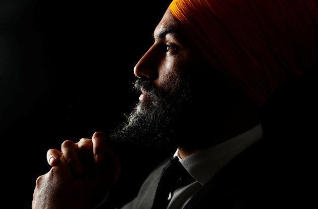 NDP Leader Jagmeet Singh is shown in Brampton, Ont. on July 13,
