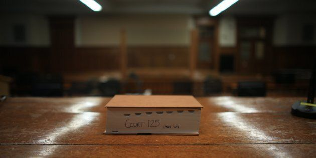 A copy of The Canadian Criminal Code sits inside Courtroom 125 at Old City Hall in Toronto. A Quebec...