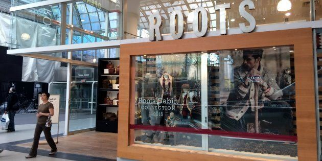 A Roots clothing store at Toronto's Eaton Centre, Oct. 29, 2015. Shares in Roots fell more than 10 per...