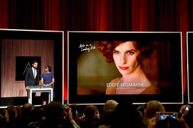 "Eddie Redmayne played a transgender woman in ""The Danish Girl."""