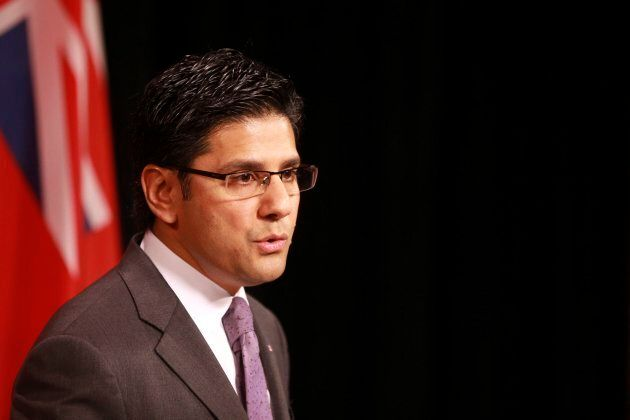 Yasir Naqvi speaks at a news conference at Queen's Park, Oct. 28,