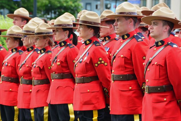 RCMP honouring officers who died in the line of duty on Victoria on June 10, 2014.