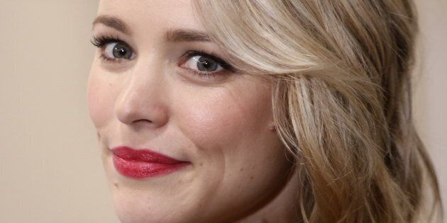 Rachel McAdams poses for pictures as she attends a news conference to promote her film
