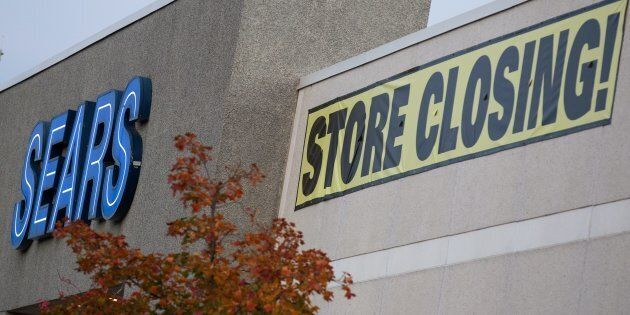 A Sears store at the Cataraqui mall in Kingston, Ont., Thursday, Oct. 26. Sears Canada's retail rivals...