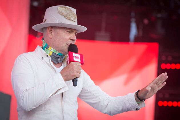 Gord Downie delivers remarks at Parliament Hill on July 2, 2017 in Ottawa. (Mark Horton/Getty
