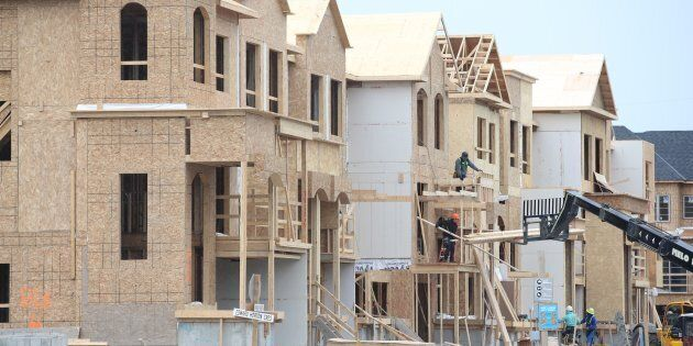 New homes under construction in Etobicoke, Toronto, May 16. Sales of pre-construction detached homes in the Toronto area plunged by 73 per cent in September, as evidence mounts that investors — if not homebuyers — are pulling back from the market.