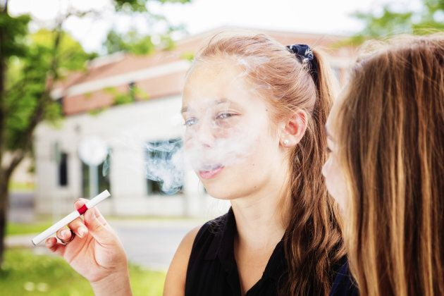 Teens who vaped in the 30 days prior to the start of the study were more likely to start smoking cigarettes and to continue smoking after one year.