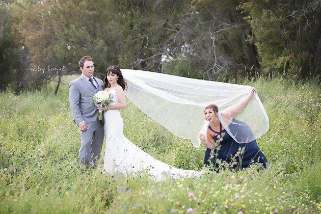 Maid Of Honour Pranks Alberta Newlyweds In Hilarious Veil Toss