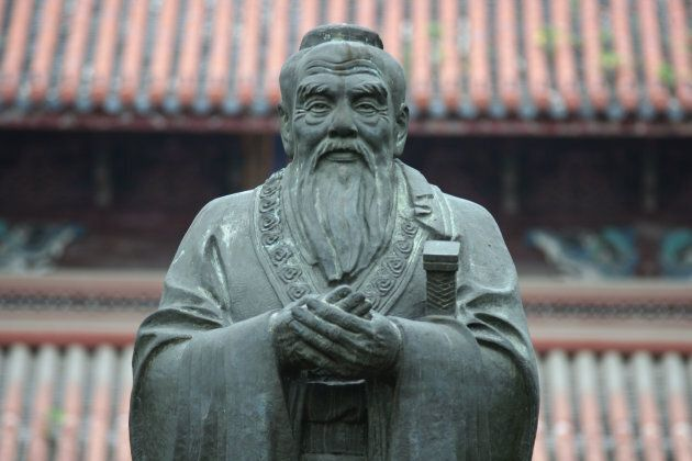 A statue of Chinese philosopher Confucius at the Confucius Temple in Suzhou
