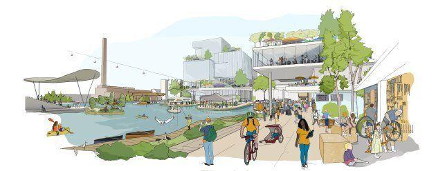 Quayside concept, public realm.