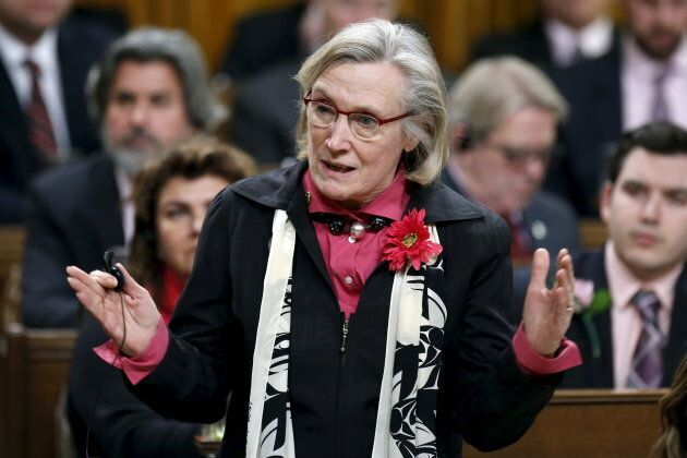 Carolyn Bennett speaks in the House of Commons on Parliament Hill on Feb. 24,