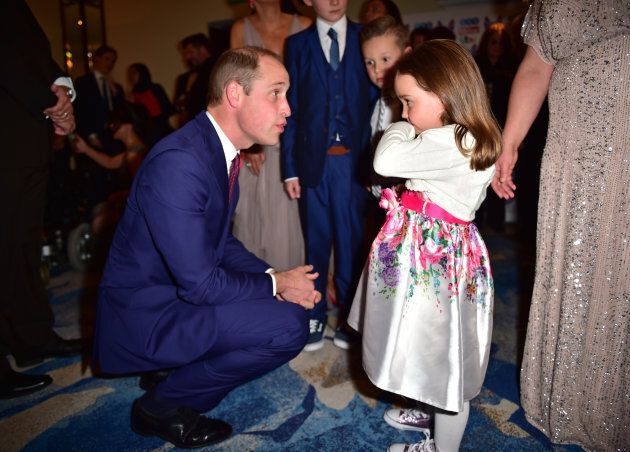 Prince William greets Suzie McCash as he attends the Pride Of Britain Awards at the Grosvenor House on...