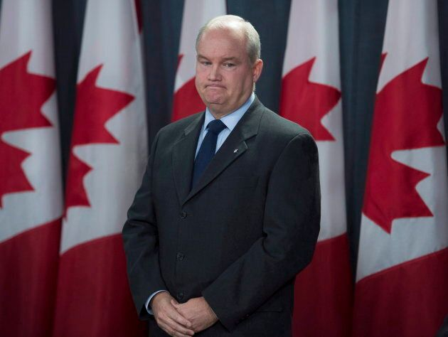 Conservative MP Erin O'Toole is seen during a news conference on Oct. 11, 2017 in