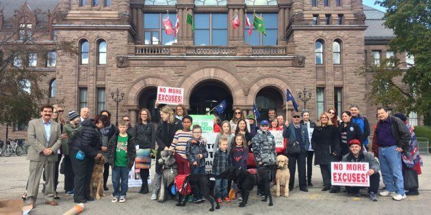 A rally was held at Queen's Park on Oct. 27 to protest the lack of support for kids with