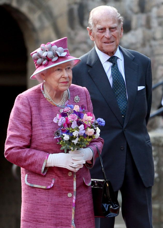 Queen Elizabeth II and the Duke of Edinburgh during a visit to Stirling Castle.
