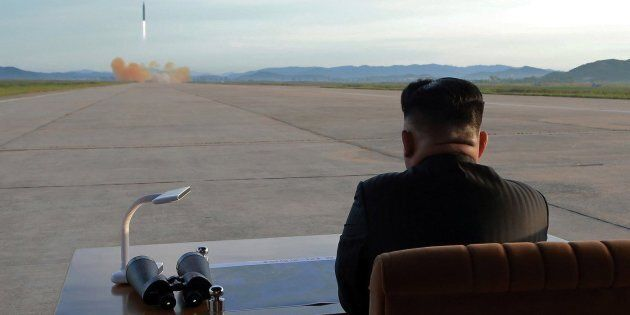 An undated photo released on Sept. 16, 2017 by the North Korean Central News Agency (KCNA) describes...