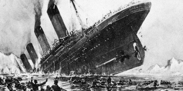 An artist's impression of the SS Titanic sinking on April 14, 1912. The Titanic's was one of the few...