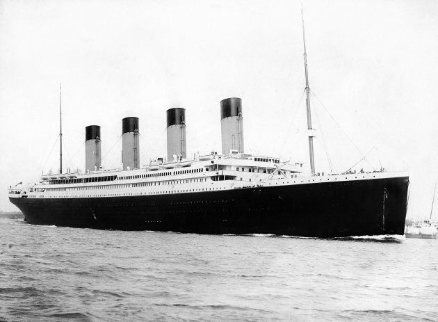 This 1912 photograph of the RMS Titanic was released before the 100th anniversary of its