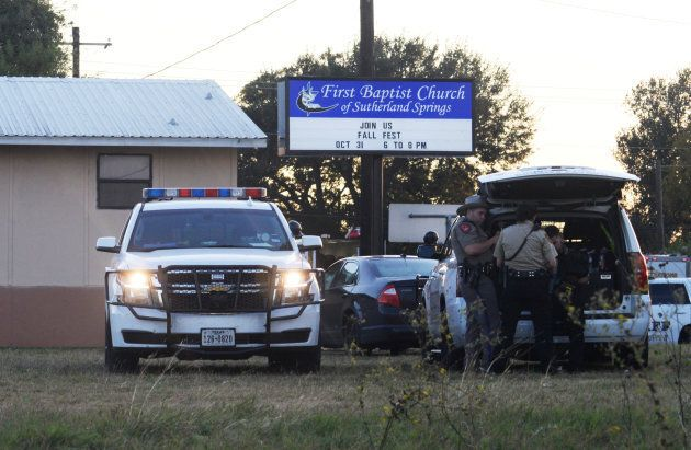 First responders on the scene of the shooting at the First Baptist Church in Sutherland Springs, Tx....