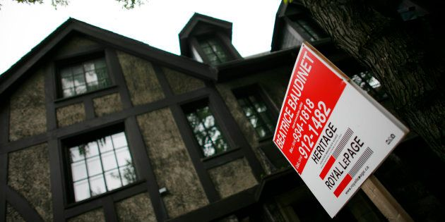A home is put up for sale in downtown Montreal, July 14,