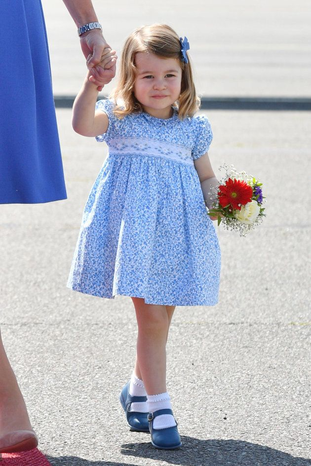 Princess Charlotte in Berlin during the royal tour of Poland and Germany in July 2017.