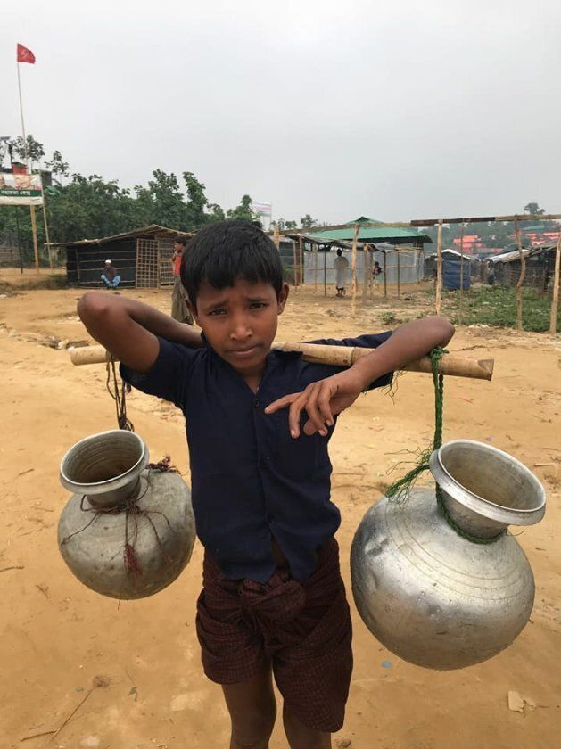 A boy at one of the camps housing tens of thousands of Rohingya
