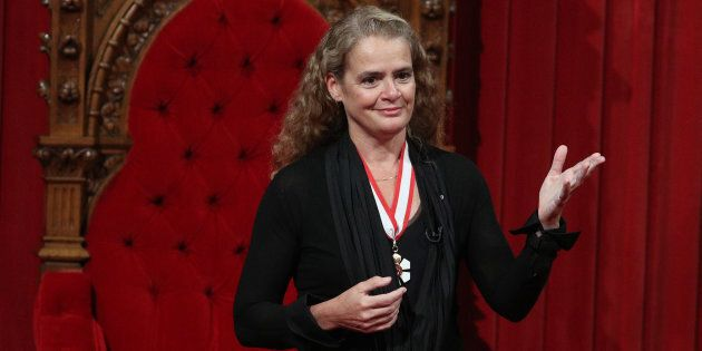 Governor General Julie Payette delivers a speech on Parliament Hill in Ottawa, Oct. 2,