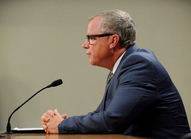Saskatchewan Premier Brad Wall announces he is retiring from politics during a press conference at the Legislative Building in Regina Aug. 10, 2017.