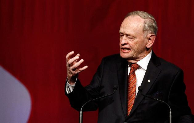 Former Prime Minister Jean Chretien speaks at the 50 Years of Standing Up for Canada event in Toronto, Jan. 21, 2014. Chretien has denied any impropriety after his name appeared in the Paradise Papers leak of offshore tax haven documents.