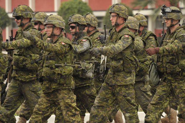 Canadian troops at the end of a demonstration rescue operation north of Lima, Peru on July 19, 2010. The Multinational Exercise South was based on chapter 7 of the United Nations Imposition of Peace Accord letter.
