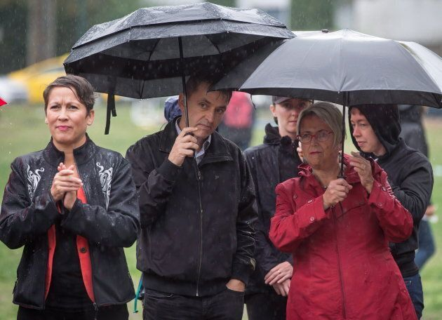 B.C.'s Minister of Advanced Education, Skills and Training, Melanie Mark, left, and Minister of Mental...