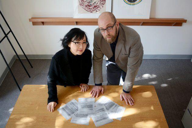 Sherri Kajiwara, director and curator of Nikkei National Museum, and Jordan Stanger-Ross, University...