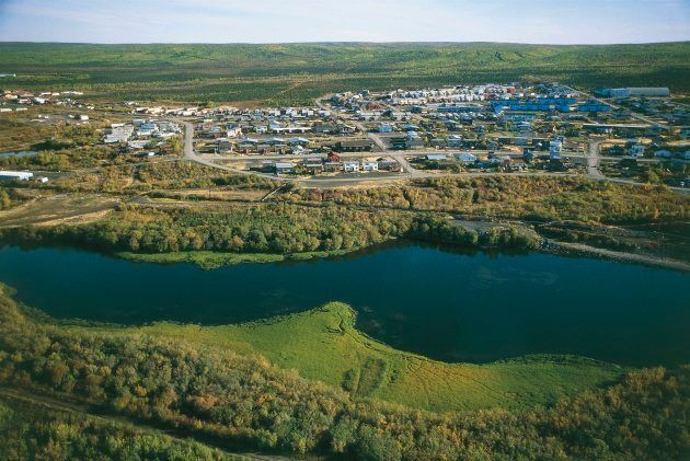 An aerial view of Inuvik is