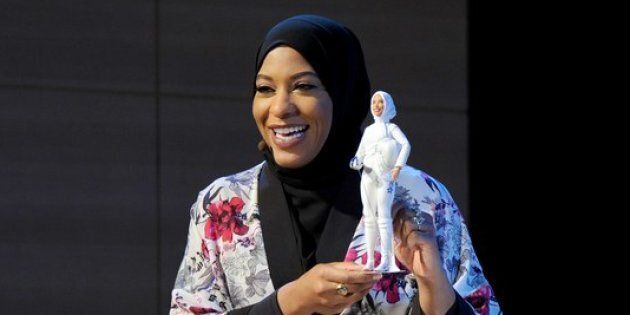 Barbie unveiled they'll be selling a hijab-wearing doll inspired by U.S. Olympian Ibtihaj Muhammad in...