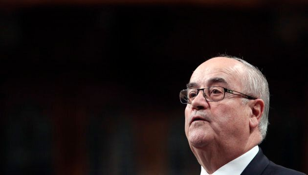 Then-Veterans Affairs Minister Julian Fantino speaks during Question Period in the House of Commons on...