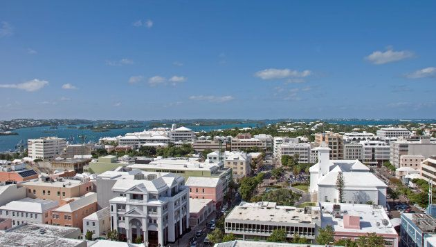An aerial view of Hamilton, Bermuda. Canadian companies have $31 billion in assets on the island, but...