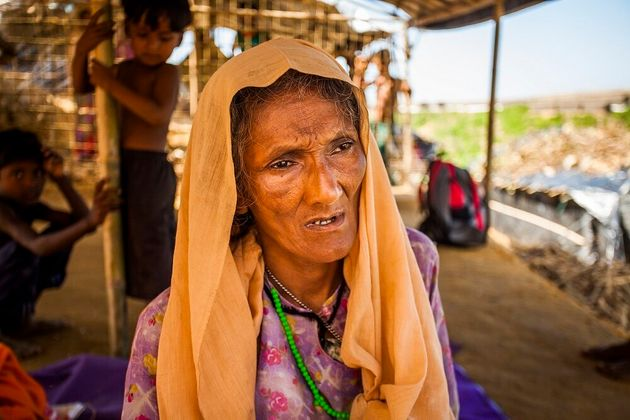 Rajuma* stays on the edge of the refugee camp to be close to the