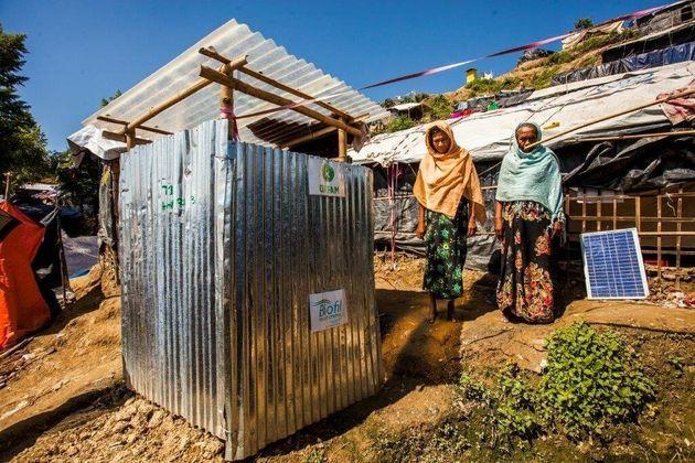 Oxfam's BioFil latrine in Unchiprang refugee camp in