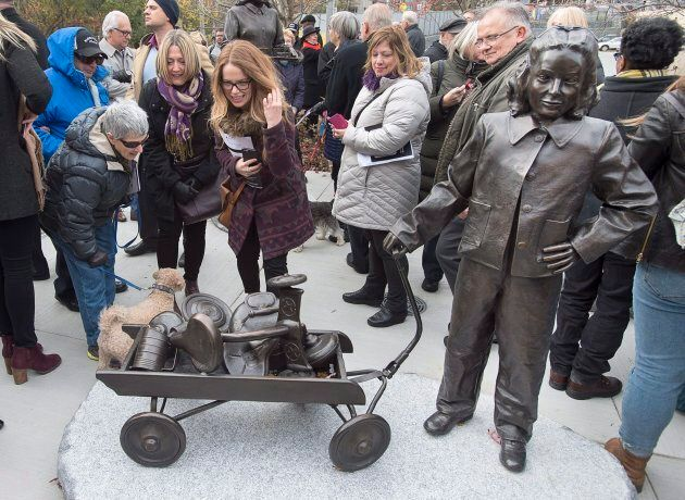 The Little Girl is viewed as the Halifax Women's History Society officially unveils a monument dedicated...