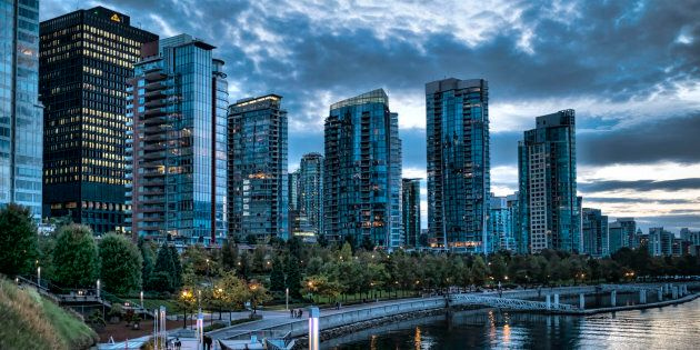 Condo towers overlooking Coal Harbour in Vancouver, Oct. 1, 2014. The condominium market has turned red-hot...