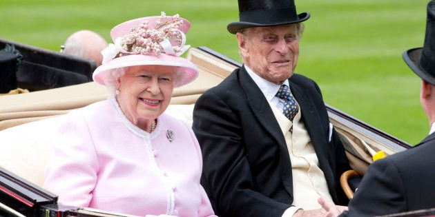 Queen Elizabeth II and Prince Philip attend day 2 of Royal Ascot at Ascot Racecourse in June 2016.
