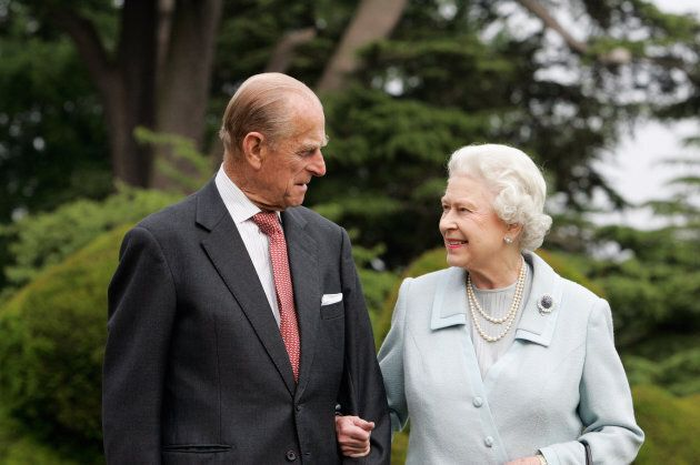 Queen Elizabeth II and Prince Philip in 2007 marking their diamond wedding anniversary.