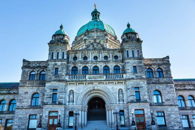 The B.C. legislature in Victoria.