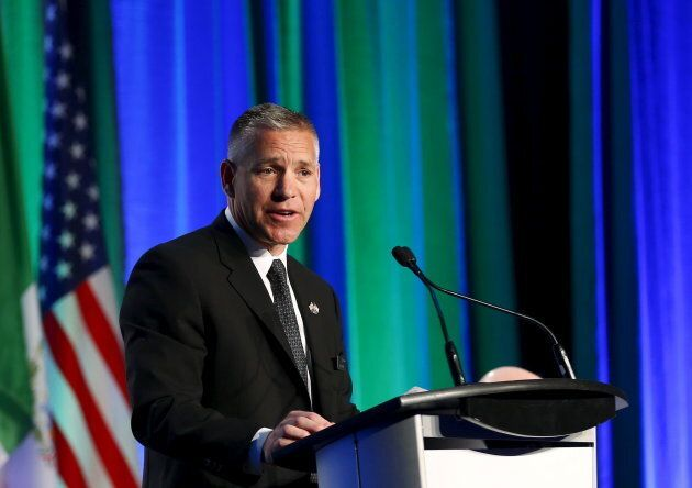 TransCanada president and CEO Russ Girling addresses shareholders during the company's annual general...