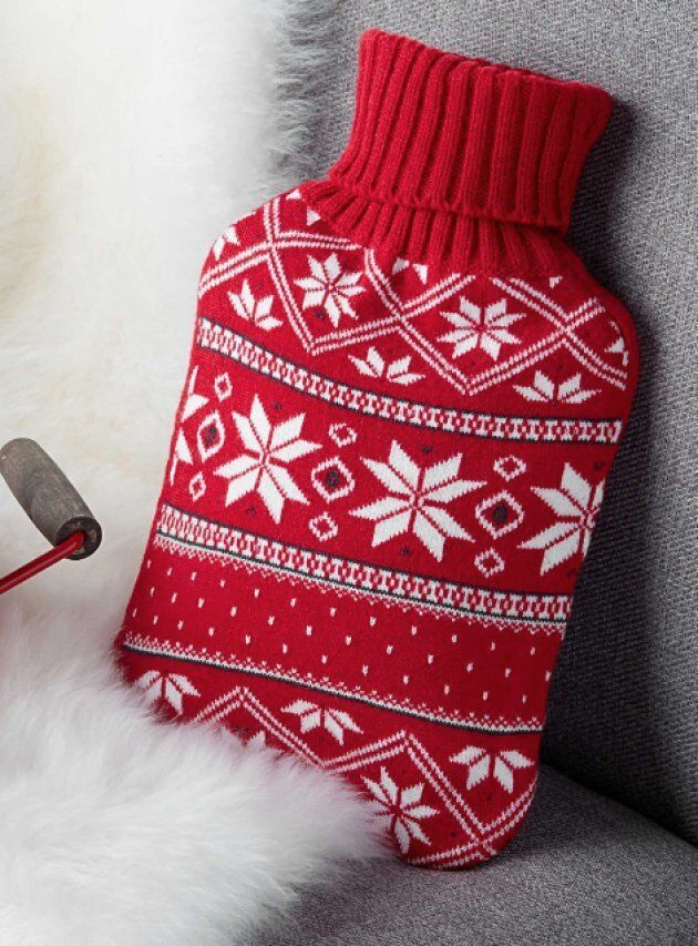 A festive hot water bottle from Simons.