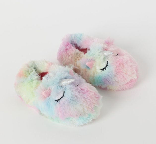 Soft pile slippers from