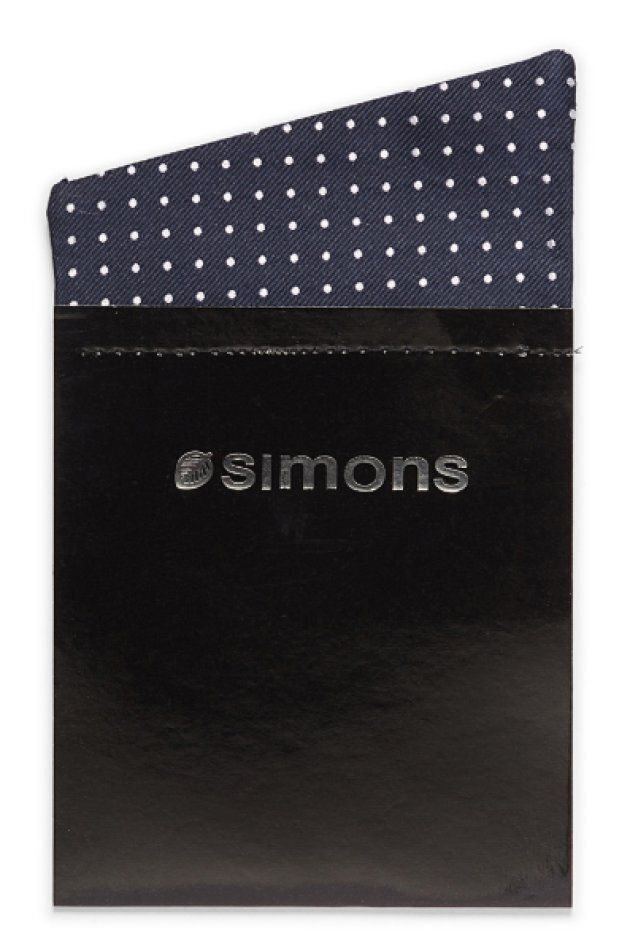Dotted trompe-l'oeil pocket square from Simons