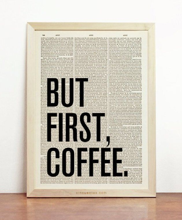 But First Coffee poster from Printionery on