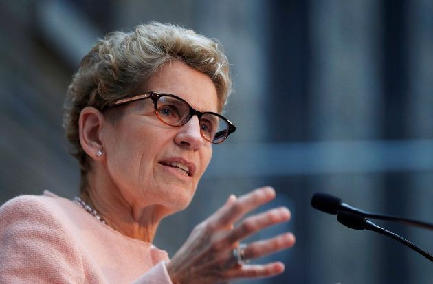 Ontario Premier Kathleen Wynne speaks in Toronto on Dec. 12,