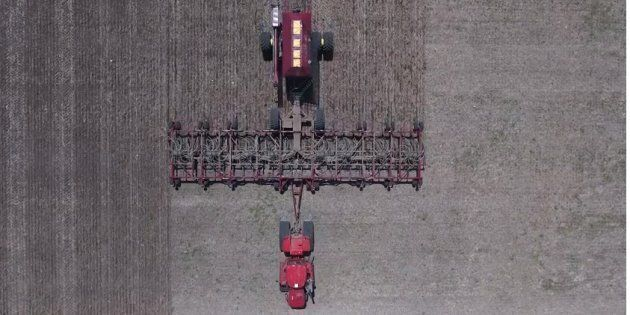 Footage captured by a drone shows some of the work done on Jason LeBlanc's Estevan, Sask.